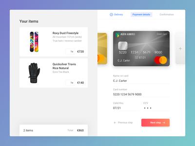 Credit card checkout - DailyUI 002