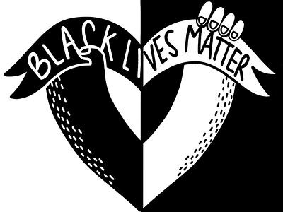 BLM illustration digital illustration art visual art procreateapp procreate illustration blackandwhite blacklivesmatter