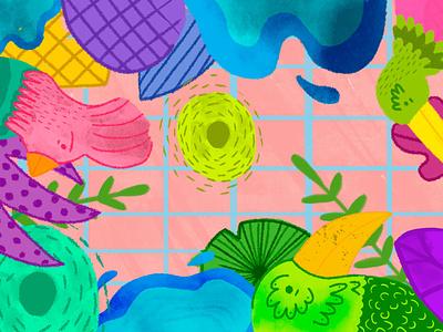 Bird Cage nature illustration flower illustration animals illustration digital visual art illustration art illustration illustrator