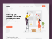 Website illustration- boards