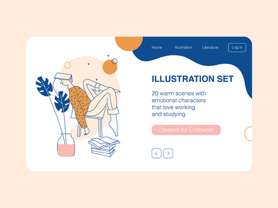 Studying website web landing 404 waiting study studying dashboad vector ui flatdesign illustration flat illustration