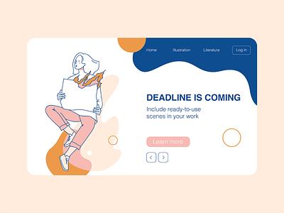 Deadline is coming vector website landing dashboad fire deadline ux ui flatdesign illustration flat illustration