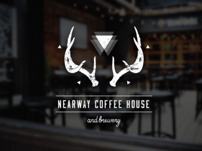 Hipster Coffee House & Brewery Logo