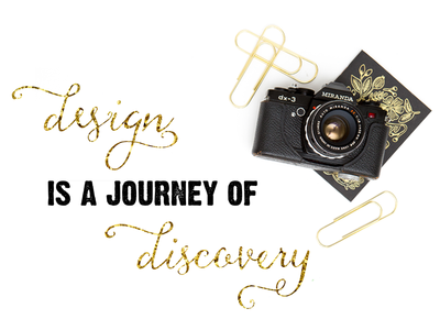 "Free Desktop Wallpaper: ""Design is a Journey of Discovery"""