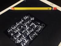 iPad Hand-Lettering