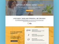Landing Page for Tax Service