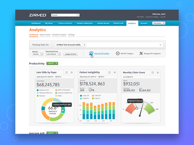 Analytics Dashboard for Healthcare SaaS Product