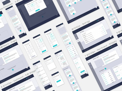 High-Fidelity Dashboard Wireframes (WIP)