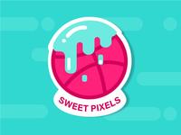 Sweet Pixels –Dribbble Sticker