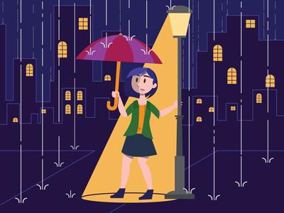 Raining Scene