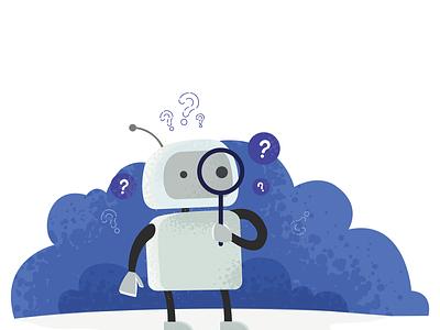 404 Robot vector illustration flat design