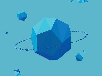 Tri-Planets website animation vector illustration flat design