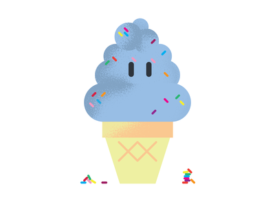 Ice Cream In Motion animation vector illustration flat design