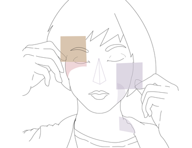 Abstract Triangle Angular Girl