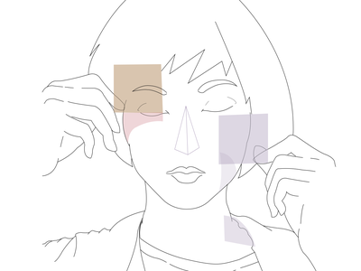 Abstract Triangle Angular Girl triangle illustrator vector illustration flat design