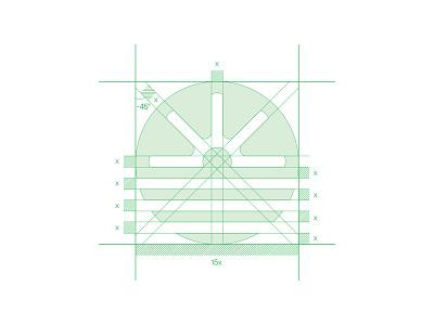 Univia Logo Grid geomatric grid logo agrotech agriculture logo layout atlantiser logogrid typography modern logo symbol graphic design brand identity minimal logo logo mark logo design branding