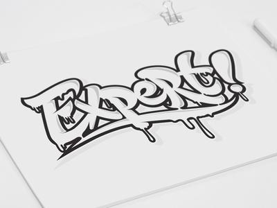 Expert_Sketch expert letter designer minsk design jeffartcolor art characters design character calligraphic lettering vector