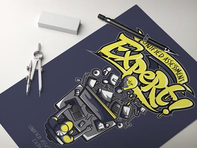 Unified Assessment Expert poster adobe portfolio designer minsk design jeffartcolor art characters design character vector illustrator