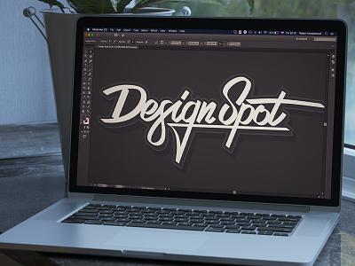 """Lettering """"Design Spot"""" design spot epam letter minsk design art vector minsk epam calligraphic lettering"""