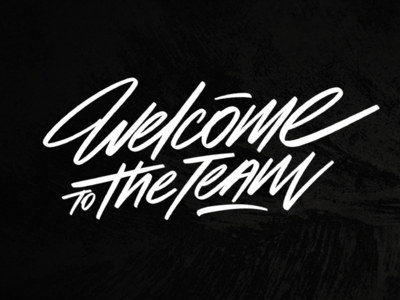 """Lettering """"Welcome to the team"""""""