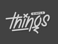 "Logo / Lettering ""Simple Things"""