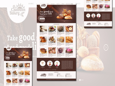 Sunmoon Bakery Website Template