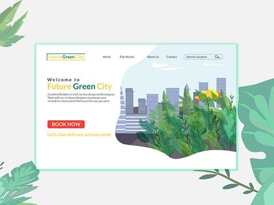 Future Green City Web Landing Page Design