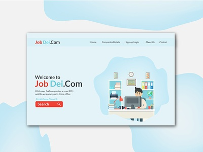 Job Dei Web Landing Page Design vector website ux web ui design