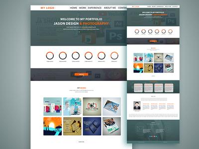Portfolio Web Template Design