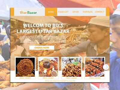 Iftar Bazar Web Landing Page Design