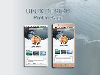 Social Media Profile Page Design