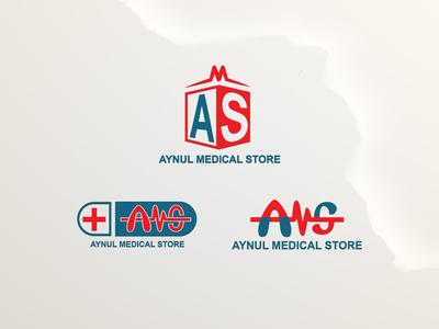 Aynul Medical Store Logo Design