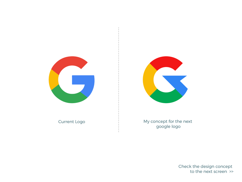 Google Logo - My Concept for the Next Level. minimal branding icon app design meaningful logo creative logo google design conceptual design redesign redesign concept modern design logo design logo google