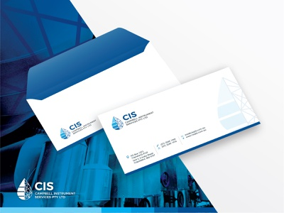 CIS- Envelope Design for a water plant based industrial Co. industrial design clean design corporate branding creative design modern design branding and identity brand identity brand design branding concept branding design branding print design print envelopes envelope design envelope hire logo designer logo designer logo