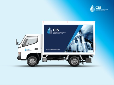 CIS - Delivery Van Design for a water plant based industrial Co. brand design vehicle design vehicle wrap clean design creative design modern design banner ads banner ad banner design banner print designer print design print brand identity design branding design brand identity logo design logo designer logo branding