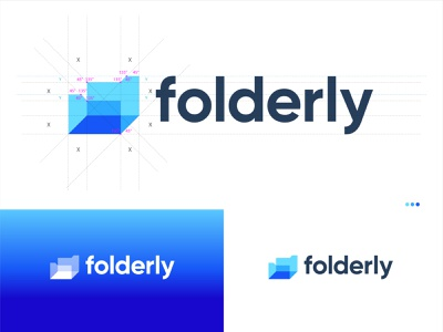 folderly - Unsold Modern Technology/Digital Product's logo. app logo flat logo logo designer for hire logo design branding ecommerce logo trendy logo digital logo creative logos folder colorful logo creative logo branding logo inspirations app icon technology logo meaningful logo modern logo conceptual logo logo design logo