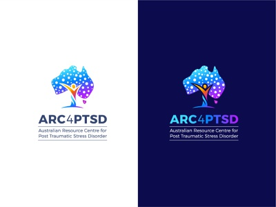 ARC4PTSD - Modern, Creative and Conceptual Logo Design. logotipo australia mental health awareness creative logos care logo medical care medical logo trauma brand identity logo inspirations meaningful logo creative logo app icon branding modern logo conceptual logo logo designer ptsd logo design logo