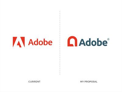 Adobe - Logo Redesign Concept. logo inspirations logotype clean design lettering redesign minimalist logo minimal flat creative logo modern logo app icon conceptual logo logo designer branding logo design logo adobe logo redesign concept adobe logo adobe