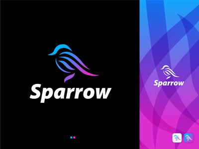 Sparrow - a Modern, Creative & Minimal logo Design for sale! logo designer for hire vector rgb best logo design best logo designer in dribbble best logo designer best logo maker best logos logo designers sparrow logo inspirations meaningful logo app icon creative logo branding logo designer conceptual logo modern logo logo design logo