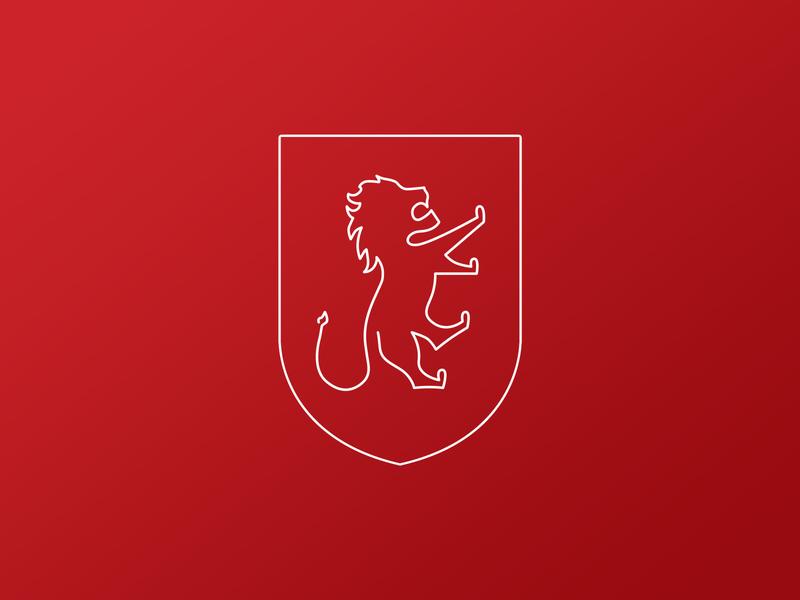 Lion design logo regal lion