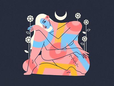 Dear Body ... embrace procreate girl flat design character illustration