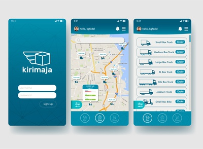 kirimaja mobile apps interface
