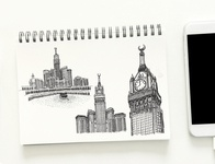 Zam-zam Tower Sketch