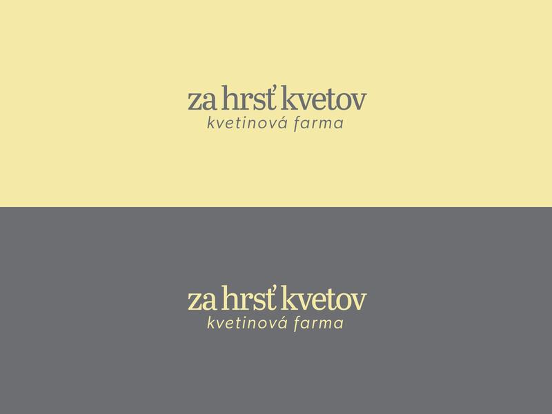 Za hrsť kvetov - Logo logo design typography brand logo vector flat creative minimal branding design