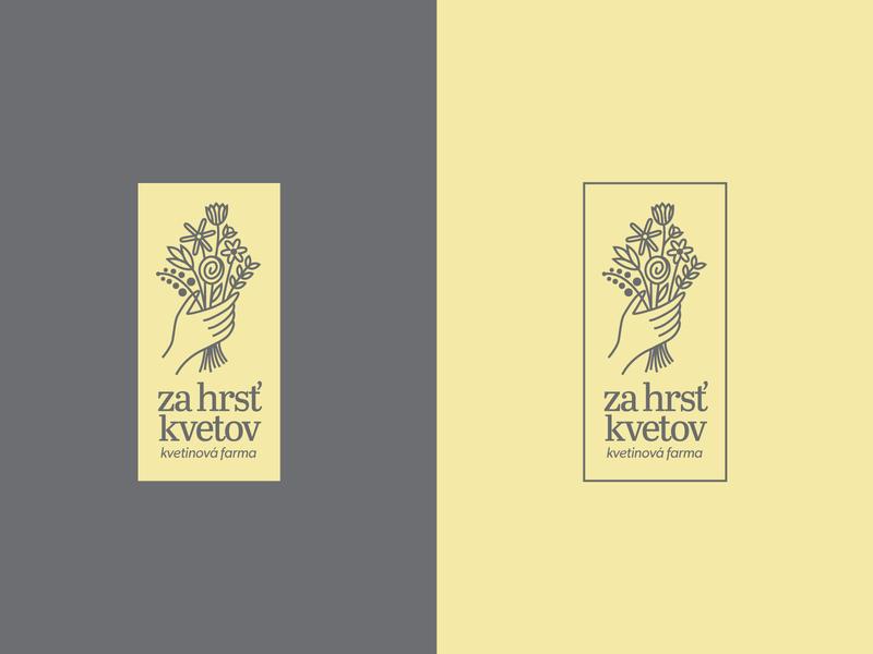 Za hrsť kvetov - Logo symbol illustration typography flowers logo design logo vector flat creative minimal branding design