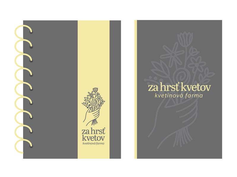 Za hrsť kvetov - Logo print typography symbol brand logo flat vector creative minimal branding design