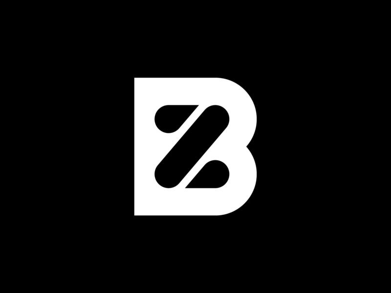 Logo Branislav Zvada vector flat branding monogram minimalism mark logotype logo icon geometry design