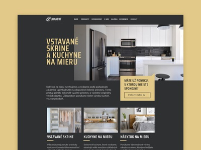Bespoke kitchens and cabinets web design