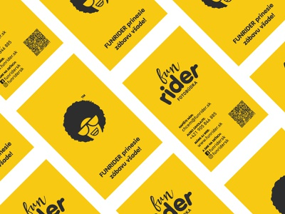 FUNRIDER - Business Card cover identity yellow business card symbol brand vector design illustration branding minimal creative flat logo print