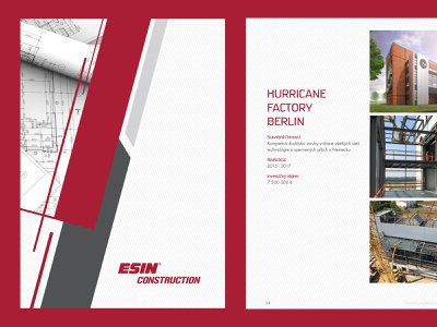 ESIN construction - catalogue cover catalogue print brand design branding